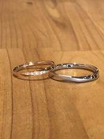 結婚指輪ピンクゴールドとプラチナ