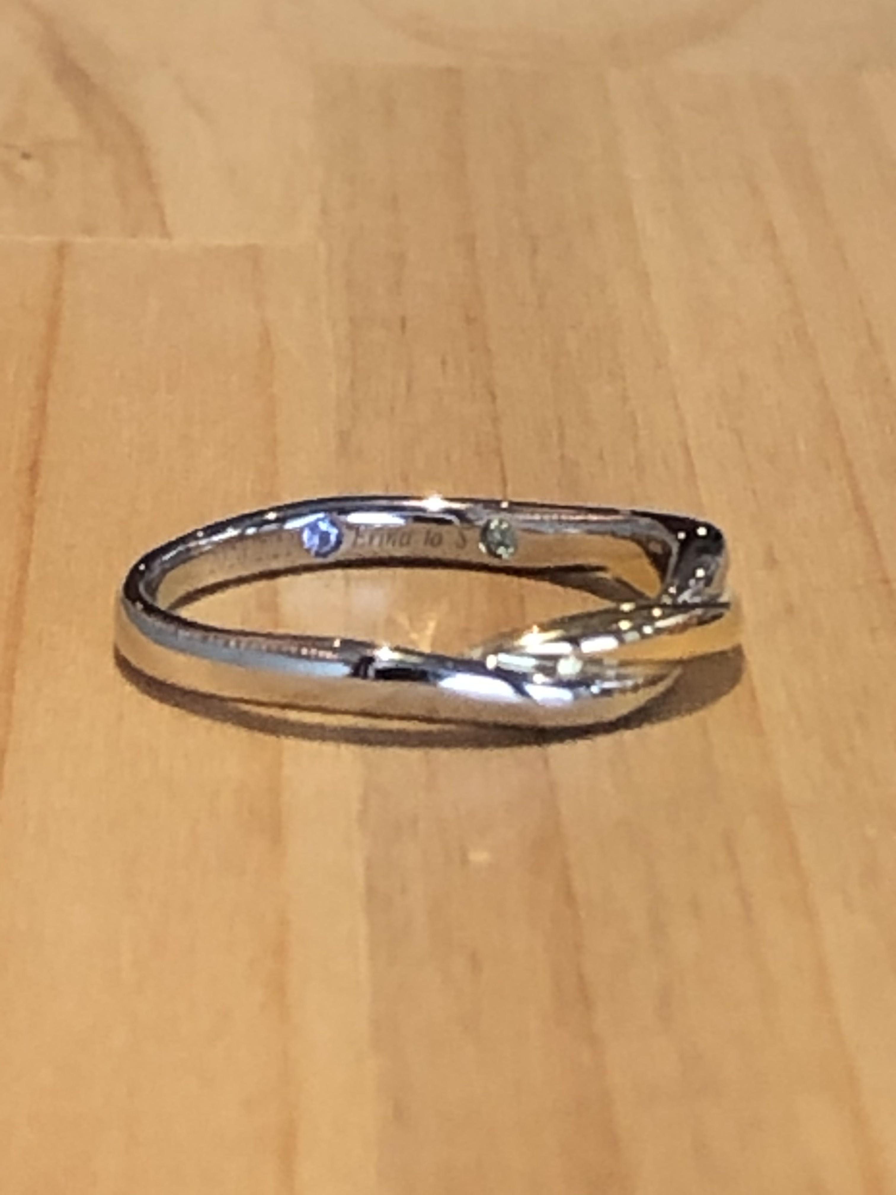 結婚指輪の誕生石アレンジ