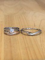 結婚指輪と婚約指輪セットリング