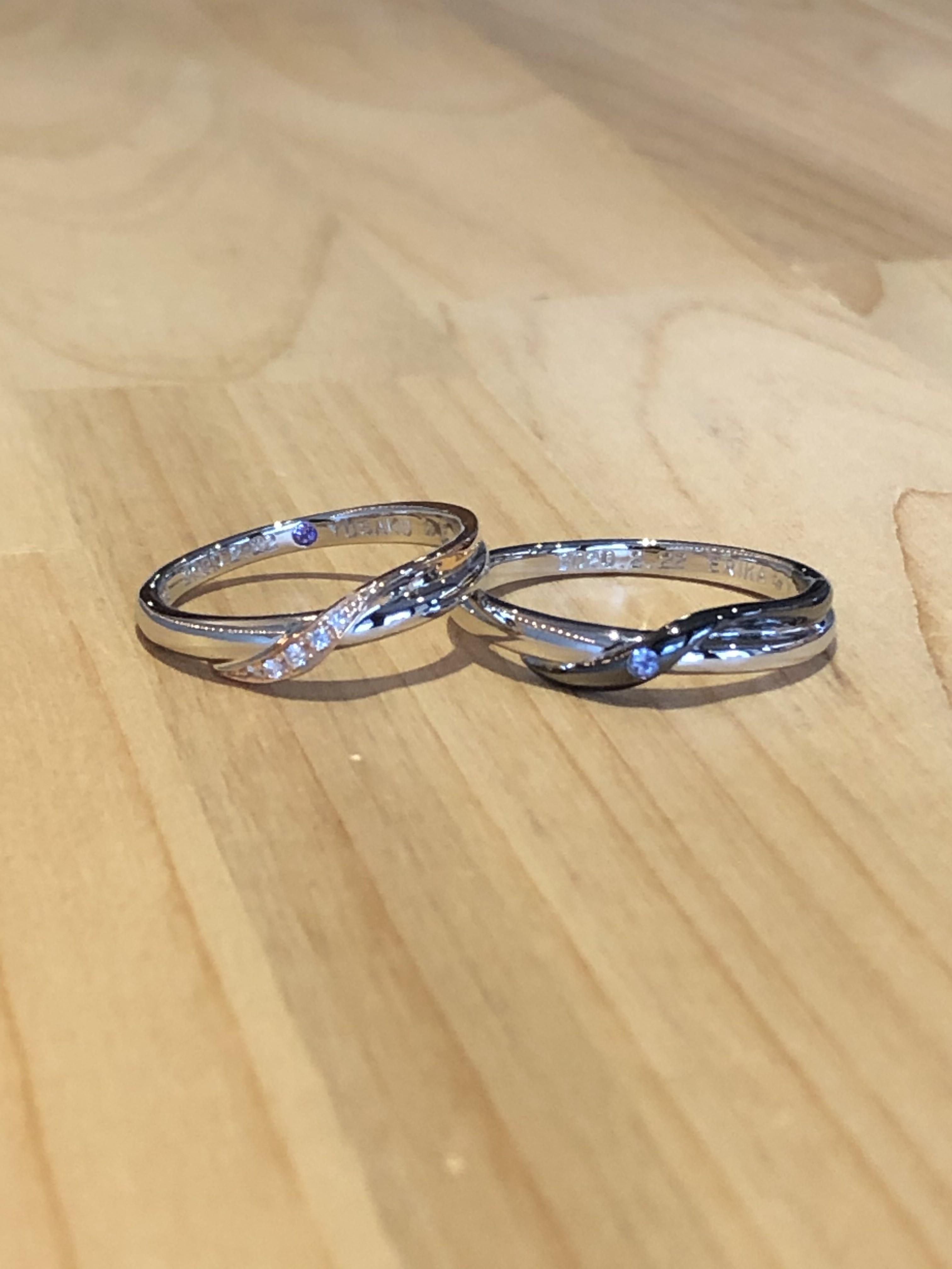 結婚指輪ウェーブ型