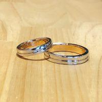 結婚指輪ストレート二色