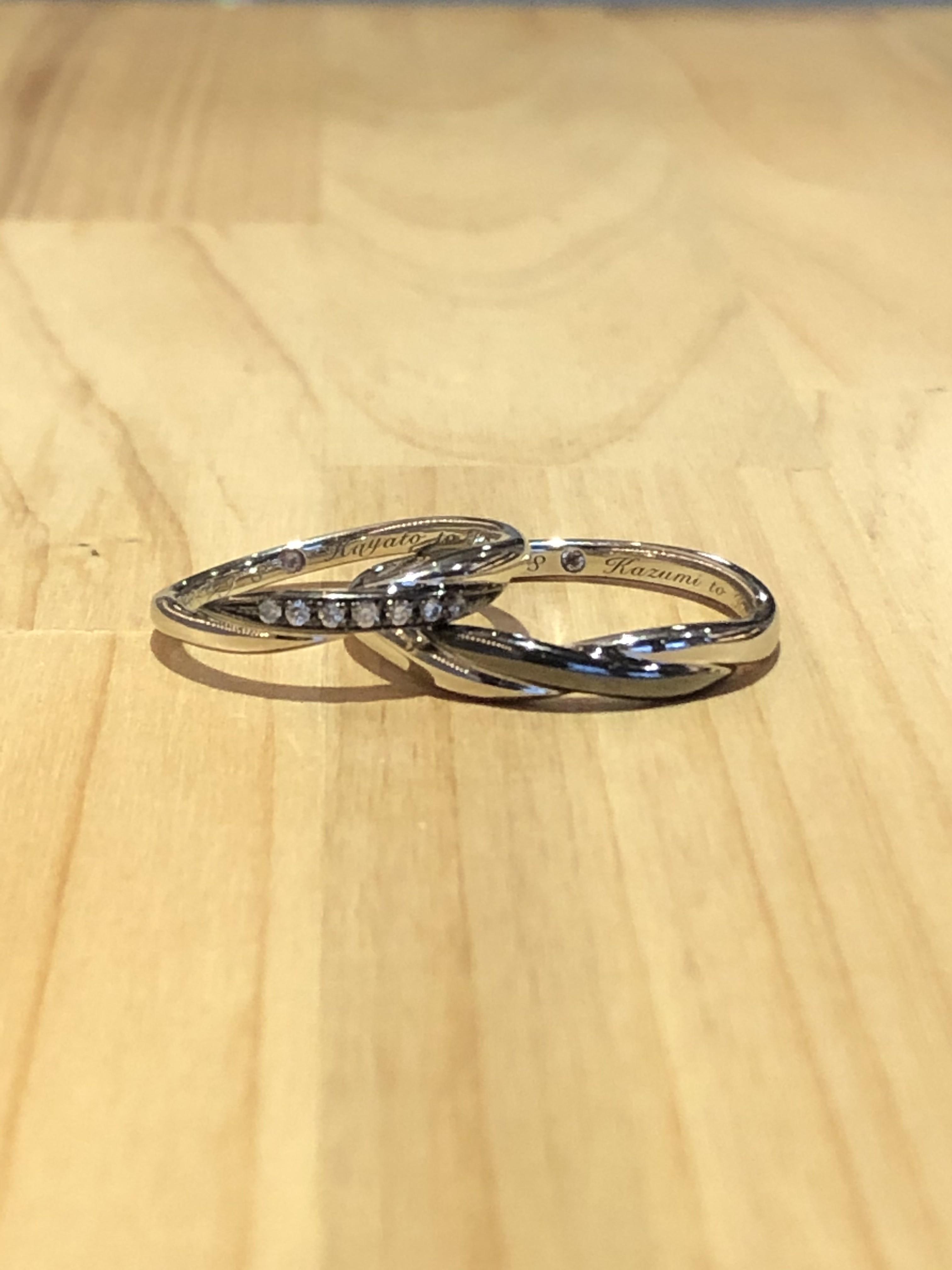 結婚指輪カラーリング
