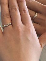 結婚指輪V型リング