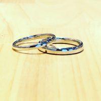 結婚指輪甲丸ストレート