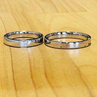 結婚指輪と婚約指輪に角ダイヤモンド