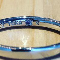 結婚指輪サムシングブルー