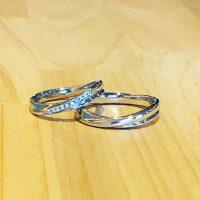 結婚指輪非対称リング