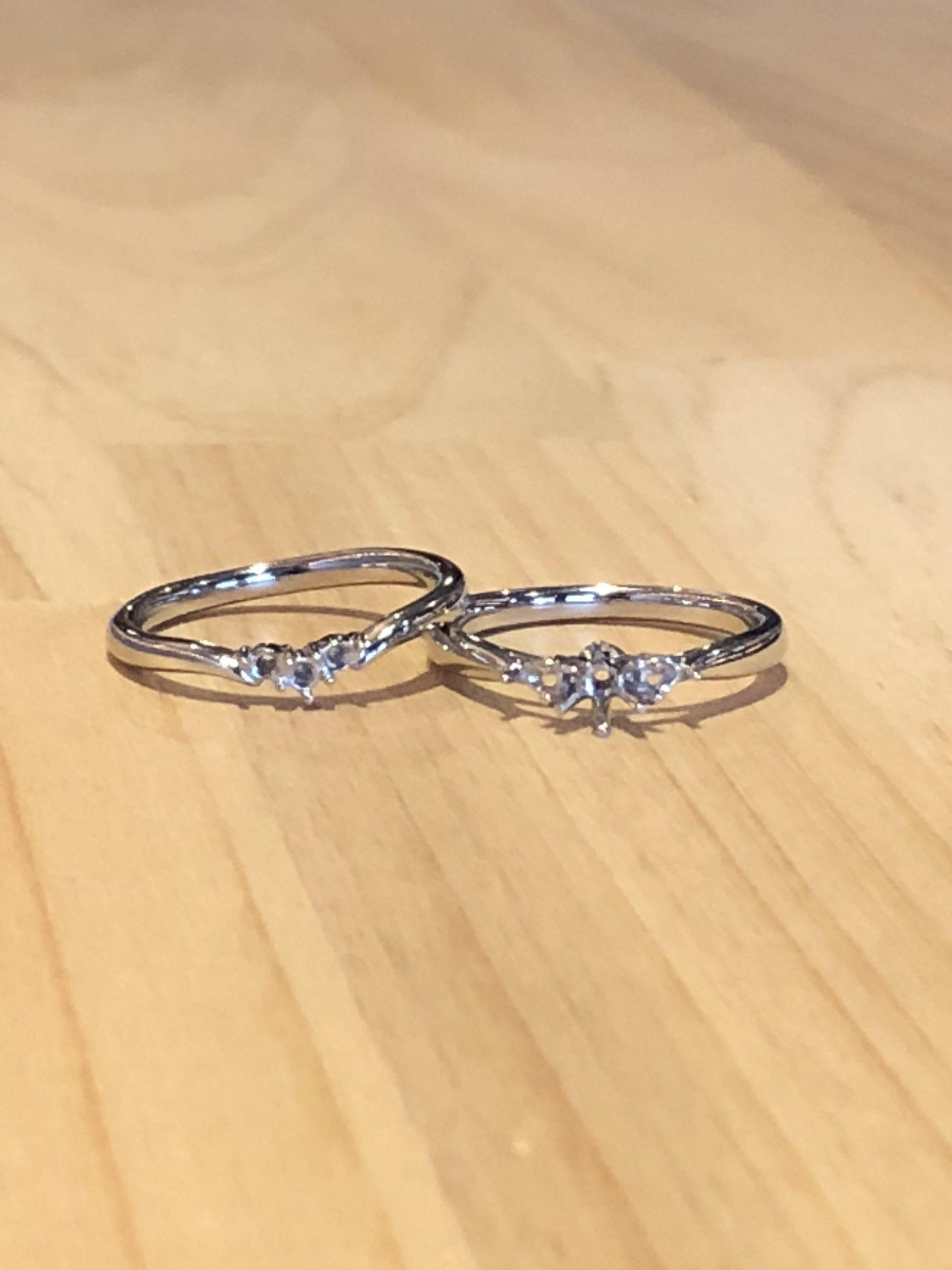 結婚指輪と婚約指輪の空枠
