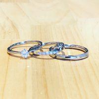 結婚指輪と婚約指輪のセット