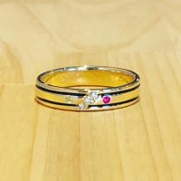 結婚指輪カラーリング加工