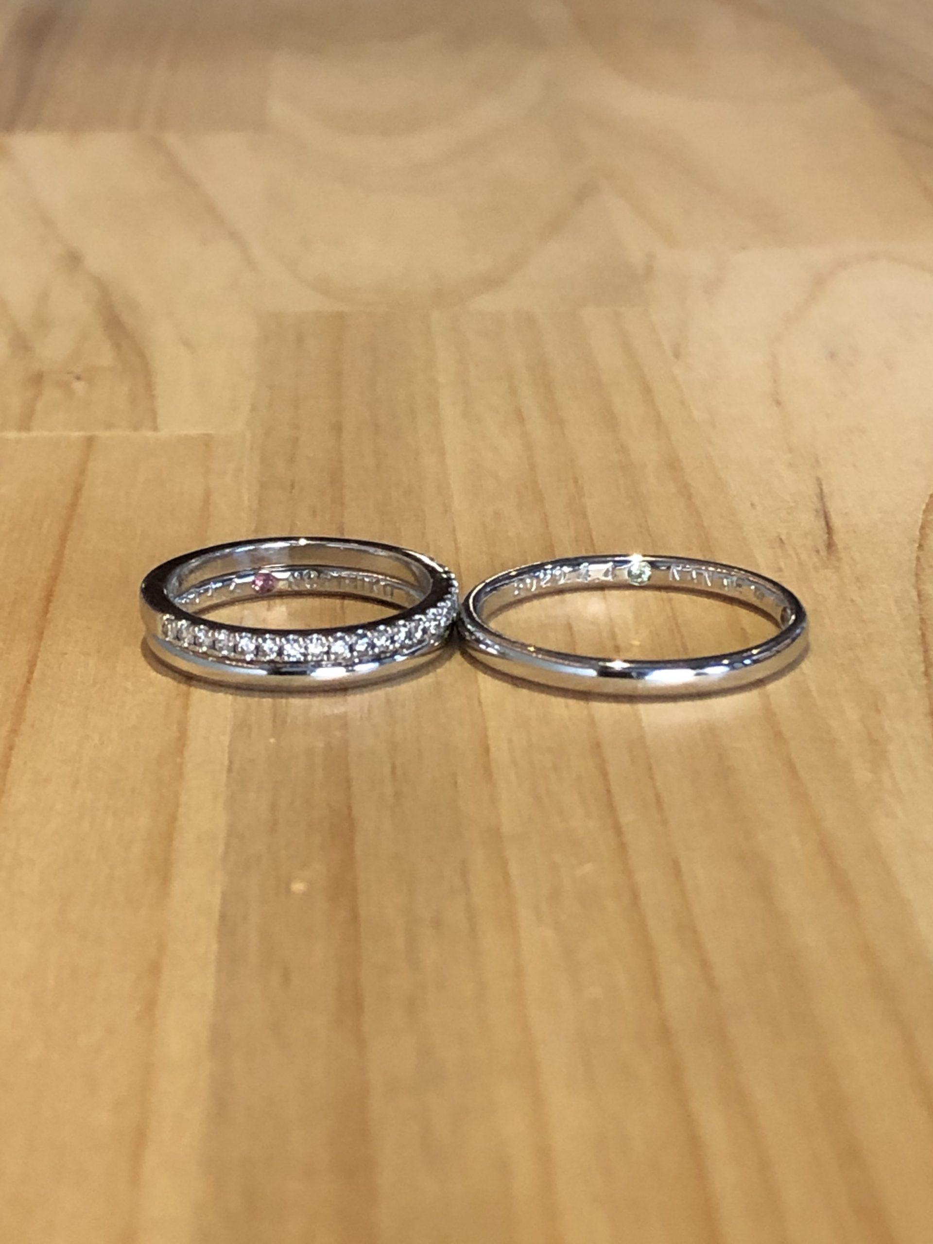 結婚指輪とエタニティリング
