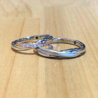 結婚指輪クロスストレート